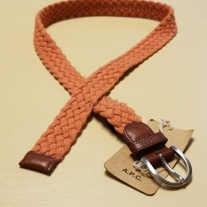 A.P.C. Braided Belt with Leather Trim